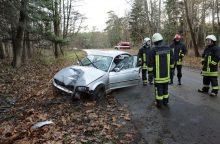 Biržų rajone mašina rėžėsi į medį, nukentėjo du žmonės