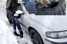 Dėl smulkmenos vairuotojai – nuostoliai