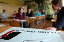 Abiturientai laiko istorijos egzaminą