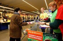 """""""Maisto bankui"""" paaukota produktų už beveik pusę milijono eurų"""