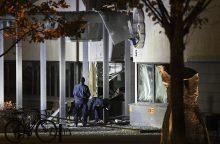 Švedijoje prie policijos nuovados driokstelėjo sprogimas
