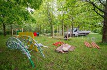 Kauno vaikams – naujos žaidimų aikštelės