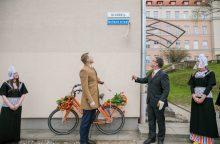 """Olandijos gatvė sostinėje papuošta užrašu """"Holland straat"""""""